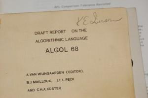 Ken Iverson's copy of ALGOL 68